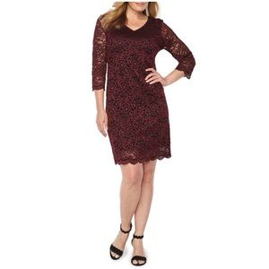 Beautiful burgundy lace dress new with tags!!